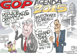 GOP Agenda by Pat Bagley