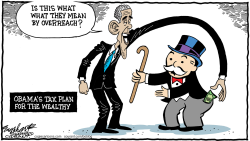 Obama Taxes The Rich by Bob Englehart