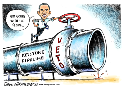 Keystone Pipeline and veto by Dave Granlund
