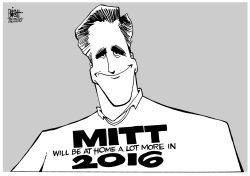 MITT SAYS NO, B/W by Randy Bish