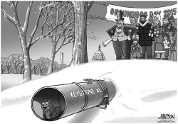 Keystone XL Groundhog by RJ Matson