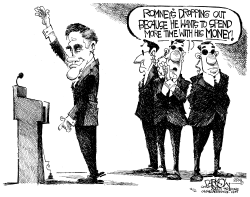 Romney Drops Out by John Darkow