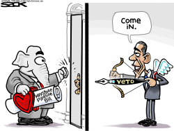 Be My Veto-tine  by Steve Sack