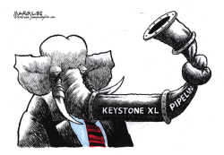 Obama vetoes Keystone XL Pipeline color by Jimmy Margulies