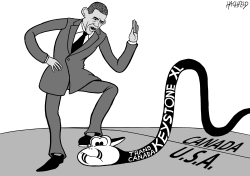 Obama stops Keystone XL by Rainer Hachfeld