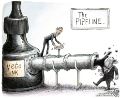 Veto Ink by Adam Zyglis