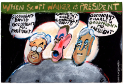 President Walker and the Koch Brothers  by Randall Enos