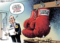 Reid Retires  by Nate Beeler