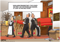 Representative Aaron Schock Moves Out of Downton Abbey Office- by RJ Matson