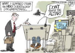 Scientology  by Pat Bagley