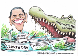 Obama Earth Day by Dave Granlund