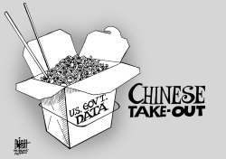 CHINESE HACKING, B/W by Randy Bish
