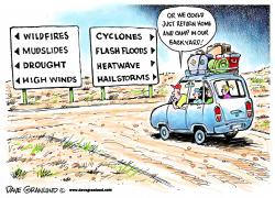 Weather extremes and vacations by Dave Granlund