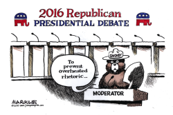 Republican presidential campaign rhetoric color by Jimmy Margulies