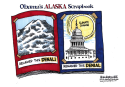 Obama's Alaska Scrapbook color by Jimmy Margulies