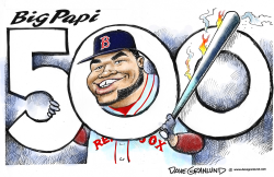 Big Papi 500th homer by Dave Granlund