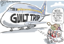 Papal Trip  by Pat Bagley