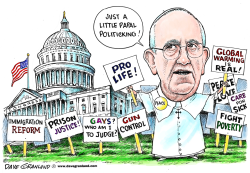 Pope Francis and Congress by Dave Granlund