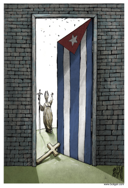 Que Cuba se abra al mundo /  by Angel Boligan