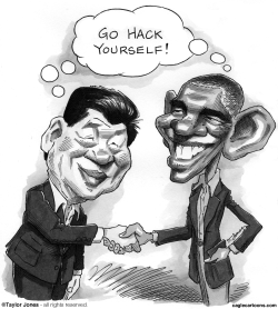 Obama and Xi Jinping -  by Taylor Jones