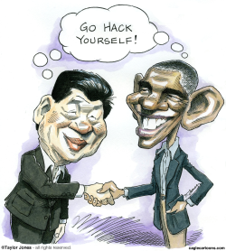 Obama and Xi Jinping -  -  by Taylor Jones