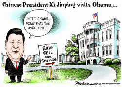 China President visits Obama by Dave Granlund