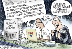 Hillary Email Spam by Joe Heller