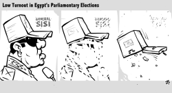 Egypt Elections BW by Emad Hajjaj