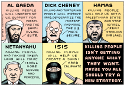 Terror Attacks  by Andy Singer