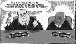 Scalia Slower Track Schools by Bob Englehart
