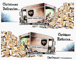 Christmas gift returns by Dave Granlund