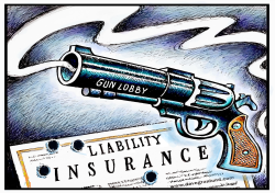 Gun liability insurance by Dave Granlund