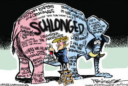 Schlonged  by Milt Priggee