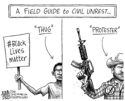 Oregon armed takeover by Adam Zyglis