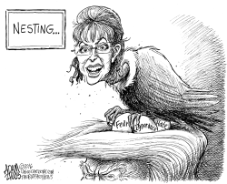Palin endorses Trump by Adam Zyglis