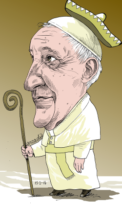 The Pope in Mexico by Arcadio Esquivel