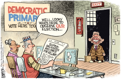 Carter Rigged DNC  by Rick McKee