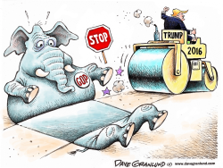 Stopping Trump  by Dave Granlund
