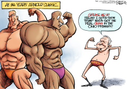 LOCAL OH - Kasich the Bodybuilder  by Nate Beeler