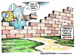 Wall for Trump  by Dave Granlund