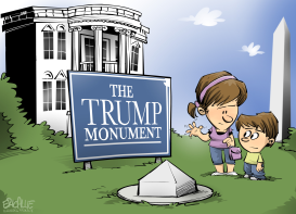 Trump monunument by Eric Allie