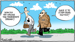 FBI/Apple  by Bob Englehart