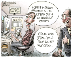 Opt out movement  by Adam Zyglis