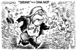 BOLTON Diplomat In A China Shop by Mike Lane