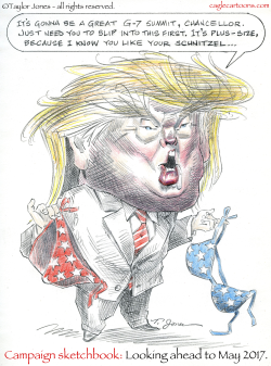 Campaign Sketchbook - Trump and Women -  by Taylor Jones