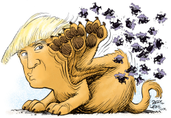 Trump Brushes Off GOP Opposition  by Daryl Cagle