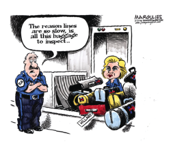 Hillary's baggage color by Jimmy Margulies