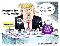 Trump  GOP unity  by Dave Granlund