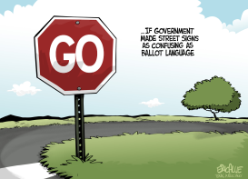 TEXAS ballot language by Eric Allie