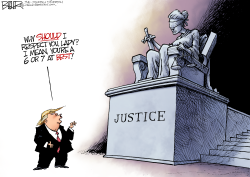 Disrespectful Donald  by Nate Beeler
